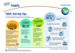 TOEFL® Test Day Tips - ETS