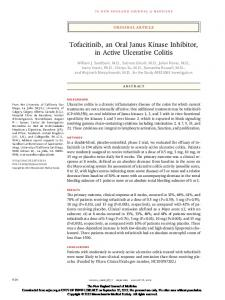 Tofacitinib, an Oral Janus Kinase Inhibitor, in Active Ulcerative Colitis