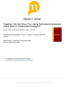 Together, We Can Show You: Using Participant ...