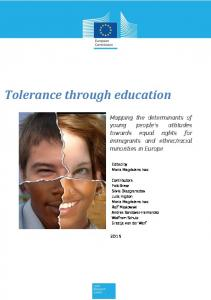 Tolerance through education - Centre for Research on Education and ...