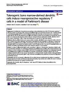 Tolerogenic bone marrow-derived dendritic cells induce ...