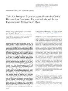 Toll-Like Receptor Signal Adaptor Protein MyD88 Is Required for ...