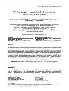 Tolllike receptors in prostate infection and cancer between bench and ...