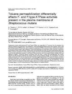 Toluene permeabilization differentially affects F - Semantic Scholar