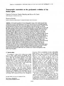 Tomographic constraints on the geodynamic ... - Wiley Online Library