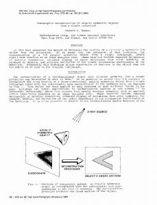 Tomographic reconstruction of axially symmetric ... - Kenneth Hanson