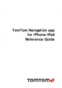 TomTom Navigation app for iPhone/iPad