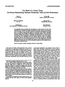 Too Much of a Good Thing: Curvilinear ... - Semantic Scholar