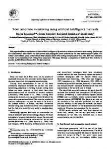 Tool condition monitoring using artificial intelligence methods