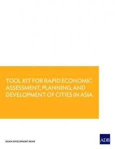 Tool kit for rapid economic assessment, planning, and development of ...