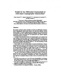 Toolkit for the Differential Cryptanalysis of ARX ... - COSIC - KU Leuven