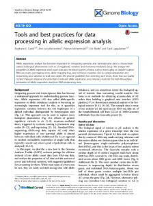 Tools and best practices for data processing in ... - Semantic Scholar