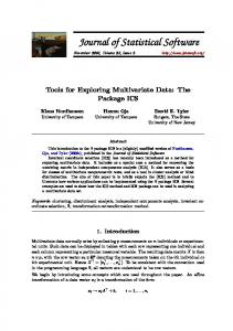 Tools for Exploring Multivariate Data: The Package ICS