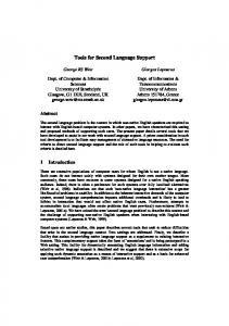 Tools for Second Language Support