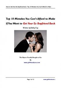 Top 10 Mistakes You Can't Afford to Make If You Want to ... - PRWeb