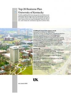 Top 20 Business Plan University of Kentucky