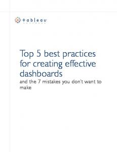 Top 5 best practices for creating effective dashboards
