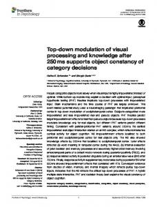 Top-down modulation of visual processing and ... - Semantic Scholar