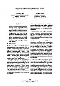 Topic Models for Meaning Similarity in Context - Association for ...