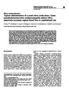 Topical administration of a novel nitric oxide donor, linear ... - CiteSeerX