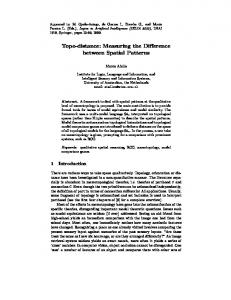 Topo-distance: Measuring the Difference between ... - Semantic Scholar