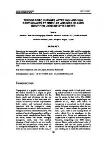 topographic changes after aceh (2004) and nias (2005 ... - Neliti