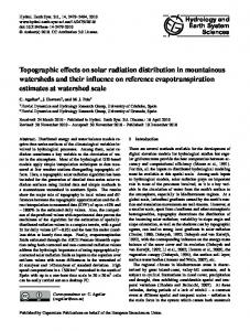 Topographic effects on solar radiation distribution in mountainous ...