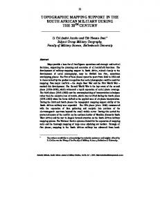 Topographic mapping support in the South African ... - Scientia Militaria