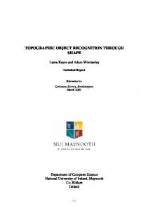 topographic object recognition through shape - Maynooth University ...
