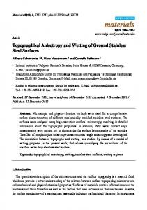 Topographical Anisotropy and Wetting of Ground ... - Semantic Scholar