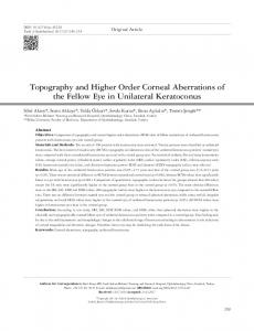 Topography and Higher Order Corneal Aberrations of the Fellow Eye ...