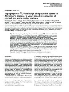 Topography of C-Pittsburgh compound B uptake in Alzheimer's disease