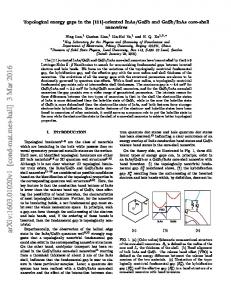 Topological energy gaps in the [111]-oriented InAs/GaSb and GaSb ...