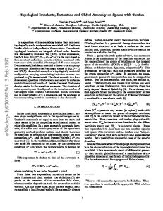 Topological Invariants, Instantons and Chiral Anomaly on Spaces with