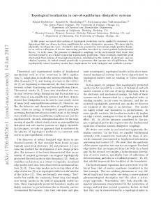 Topological localization in out-of-equilibrium dissipative systems