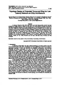 Topology Design of Extended Torus and Ring for Low ...
