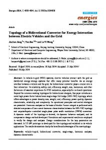 Topology of a Bidirectional Converter for Energy Interaction ... - MDPI