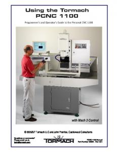 Tormach PCNC Owners Manual - Personal Websites
