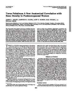 Torus Palatinus: A New Anatomical Correlation with Bone Density in ...