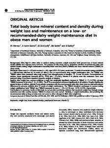 Total body bone mineral content and density during weight ... - Nature