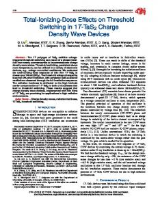Total-Ionizing-Dose Effects on Threshold Switching in ... - IEEE Xplore