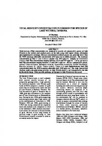 total mercury concentration in common fish