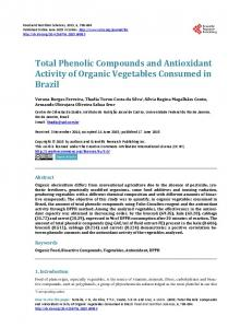 Total Phenolic Compounds and Antioxidant ... - Semantic Scholar