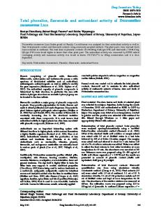 Total phenolics, flavonoids and antioxidant activity of ... - JPR Solutions