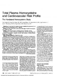 Total Plasma Homocysteine and Cardiovascular Risk