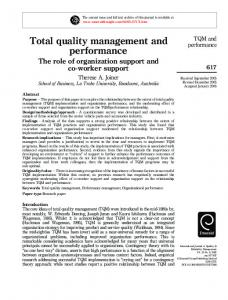 Total quality management and performance - GEPEQ