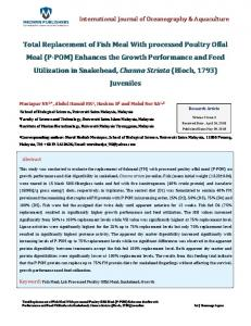 Total Replacement of Fish Meal With processed
