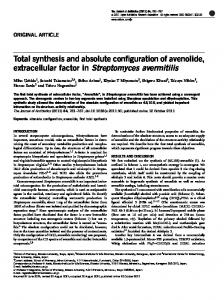 Total synthesis and absolute configuration of avenolide ... - Nature