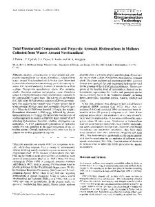 Total unsaturated compounds and polycyclic aromatic hydrocarbons ...