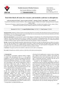 Total white blood cell count, liver enzymes, and ... - Tubitak Journals